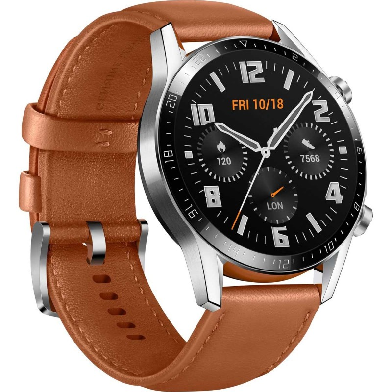 Acc. Bracelet Huawei Watch GT2 Classic 46mm EU Brown Acc. Bracelet Huawei Watch GT2 Classic 46mm EU Brown su www.GlobalWorkMo...