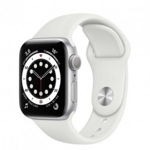 Smartwatch Apple Watch 6 44mm silver with White Sport Band M00D3HC-A Smartwatch Apple Watch 6 44mm silver with White Sport Ba...