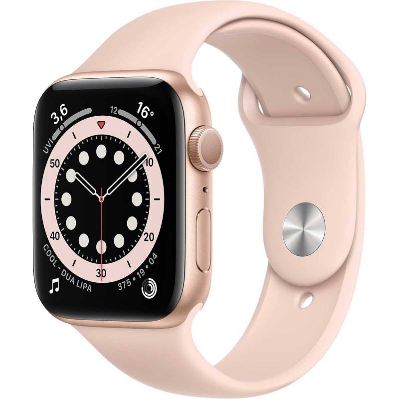 Smartwatch Apple Watch 6 44mm gold with pink Sport Band Smartwatch Apple Watch 6 44mm gold with pink Sport Band su www.Global...