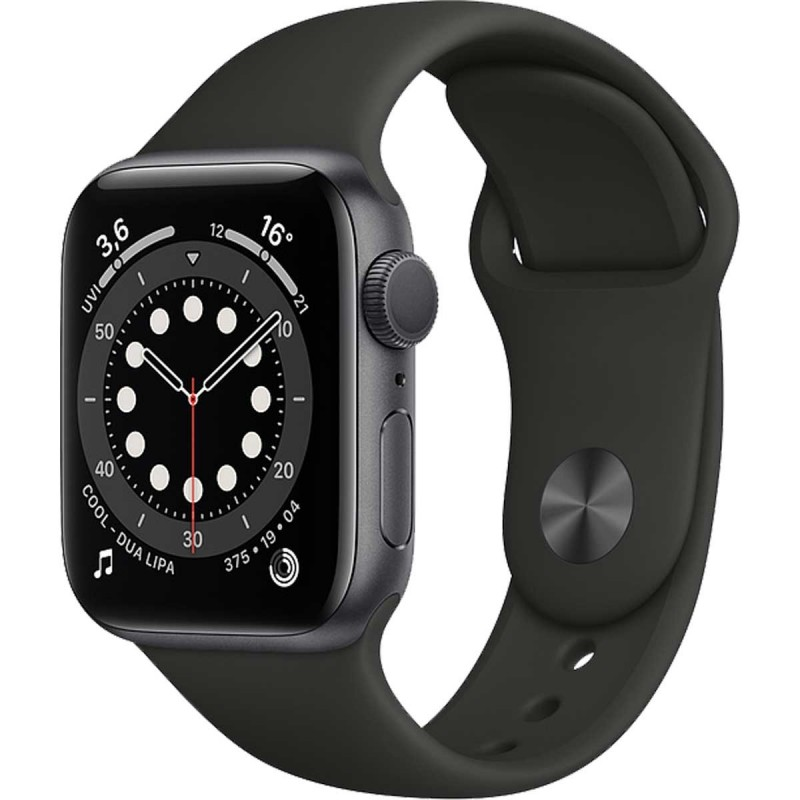 Smartwatch Apple Watch 6 44mm Space gray with Black Sport Band Smartwatch Apple Watch 6 44mm Space gray with Black Sport Band...